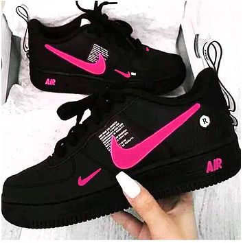 Onewel NIKE AIR FORCE 1 Tide brand simplified version OW low-top shoes Fresh Pink hook