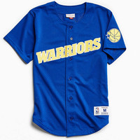 Mitchell & Ness Golden State Warriors Button Front Jersey - Urban Outfitters