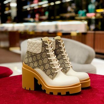 Womens GG ankle boots shoes-3