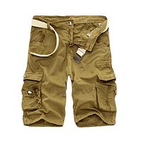 Mens Military Cargo Shorts New Army Camouflage Tactical Shorts Men Cotton Loose Work Casual Short Pants