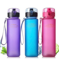 Spring travel mug new candy color water bottle contracted household fashion plastic mug English paragraph cup portable drink cup