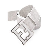 Men's Fendi Zucca white Belt