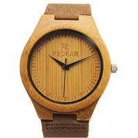 Japanese MIYOTA  Movement Wristwatche Genuine Leather Bamboo Wooden Watches For Men And Women  Bracelet Creative