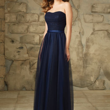 Elegant Lace and Tulle Long Bridesmaid Dress   Style 116   Morilee