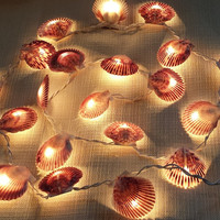 Shell Garland, Seashell Garland, Seashell Lights, Nautical Garland, Christmas Garland, Beach Wedding Garland, Beach Decor