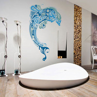 Dolphin Full Color Decal, Full color sticker, colored Dolphin gc058