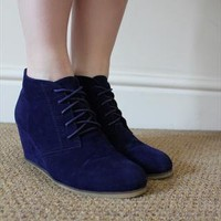 Blue heeled shoe boots from Blue Flamingo