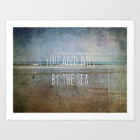 You and me, by the sea Art Print by Elizabeth Wilson Photography