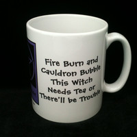 This Witch Needs Tea! Funny Pagan Wiccan Mugs designed by Cheeky Witch