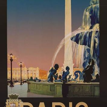 Paris France Julian Lacaze Art Poster 24x36