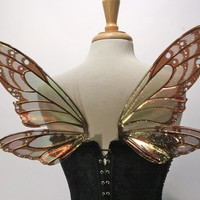 Painted Small Lizette Iridescent Fairy Wings, Monarch Butterfly