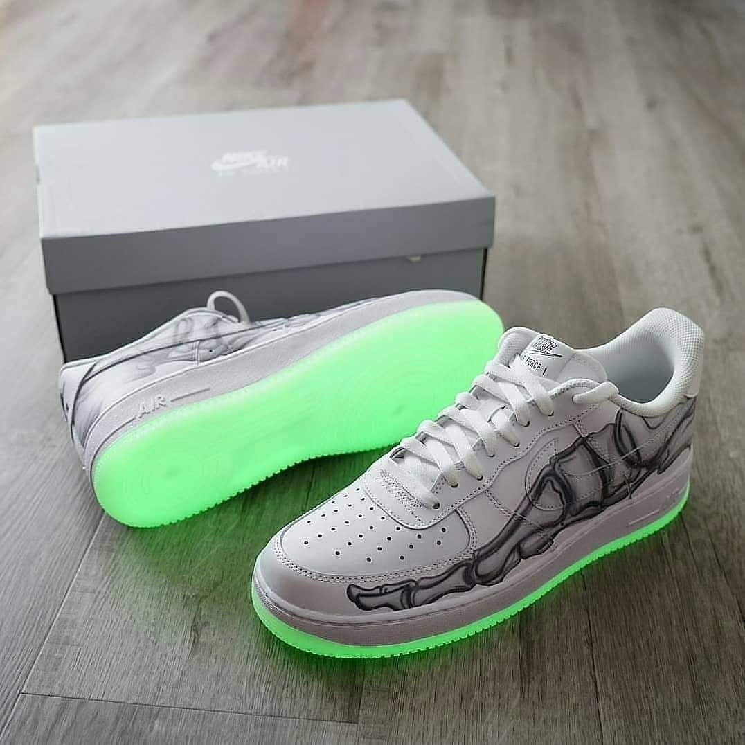 Image of NIKE AIR FORCE 1 DUNR Painting graffiti Air Force 1 casual shoes