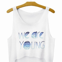 We Are Young Letters Crop Top Summer Style Tank Top Women's Top