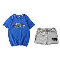 VANS has a stylish pair of multicolored women's shorts with short sleeves