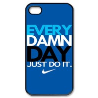 New Hot NIKE EVERY DAMN DAY JUST DO IT Blue New Apple IPHONE 4 4S 5 HARD CASE Covers Elegant Fit Use With Your T SHIRT from Custom Store
