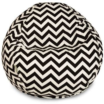 Black Chevron Small Classic Bean Bag