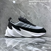 DCCK2 A1129 Adidas Sharks Concept 2019 Fashion Casual Running Shoes Black Blue