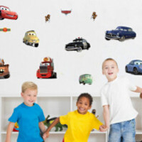 Cartoon car child room decoration wall stickers for kids rooms boys girl nursery decor wallpaper for kids baby room wall sticker