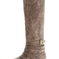 Campfire Tales Distressed Riding Boots in Taupe