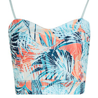 Poppy Palm Print Bralet