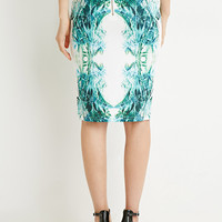 Rise Of Dawn Forest Green Midi Skirt