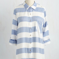 Cape Cod Cruising Tunic | Mod Retro Vintage Short Sleeve Shirts | ModCloth.com