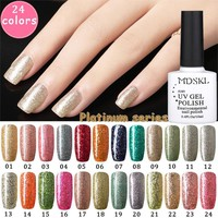 MDSKL Nail Gel For Nail Art Nail Glue Kit Manicure Platinum Series Gel Lacquer Hot Selling Gel Nail Polish Choose 1 From 24