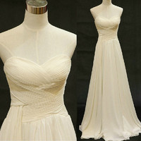 Ivory Exquisite A-line Sweetehart Sweep Train Prom Dress