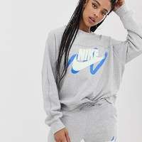 Nike Archive Exclusive To Asos Gray Scribble Logo Sweatshirt | ASOS