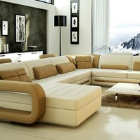 Sofa Modern Design Hot Sale Top Grain leather Sofas Corner Couches with comfortable Chaise longue Best Leather Sofa Furniture