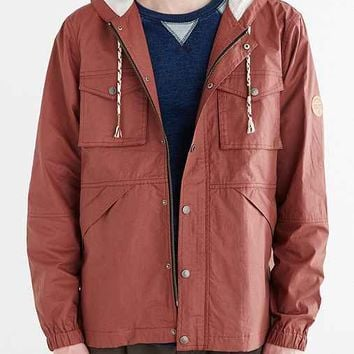 Native Youth Ripstop Festival Parka Jacket- Rust