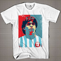 Diego Maradona  Mens and Women T-Shirt Available Color Black And White