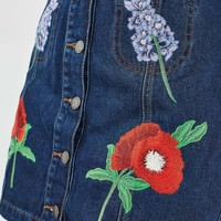 MOTO Floral Embroidered Skirt