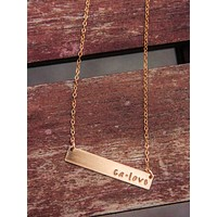 Gold CA LOVE NECKLACE