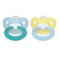 NUK BPA Free 0-6 Months 2 Pack Fashion Orthodontic Pacifier - Blue/Yellow