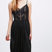 Jacquard Strappy Slip - Urban Outfitters