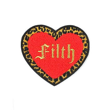 Filth Heart Chenille Patch