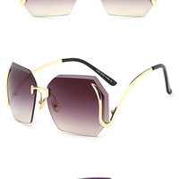 Peekaboo  New Vintage Rimless Sunglasses  Quality Gradient  In (6)Colors