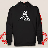 fall out boy hoodie. pullover. sweatshirt. sweater. color black white green blue gray red for size s - 3xl