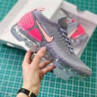 Nike Air Vapormax 2.0 Grey Pink Women Sport Running Shoes - Best Online Sale