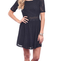 Haute Holiday Lace Fit and Flare Dress