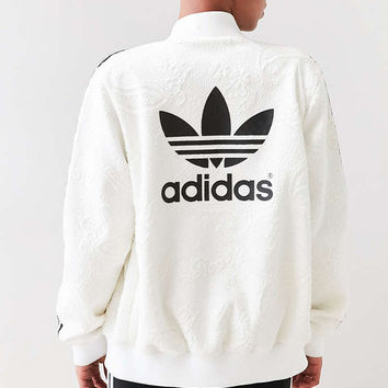 adidas Originals + UO Floral Jacquard Bomber Jacket - Urban Outfitters