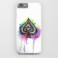 ace of spades; iPhone & iPod Case by Pink Berry Patterns