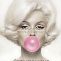 BELIEVE EVERYTHING HAPPENS REASON MARILYN MONROE QUOTE  POSTER QU266B