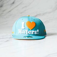 DGK I love Haters Fitted Cap - Teal/Yellow