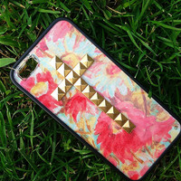 Colorful Daisy Studded Cross iPhone 4/4s and 5 case with bumper