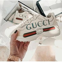 GUCCI Classic Fashion Women Men Casual Running Sport Sneakers Shoes