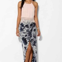 Staring At Stars Ruched-Side Tulip Maxi Skirt-