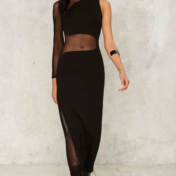 Nasty Gal On Your Side Mesh Maxi Dress