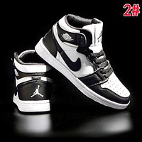 inseva AJ 1 Nike AIR JORDAN 1 Fashionable Women Men High Top Sport Running Shoes Sneakers 2#